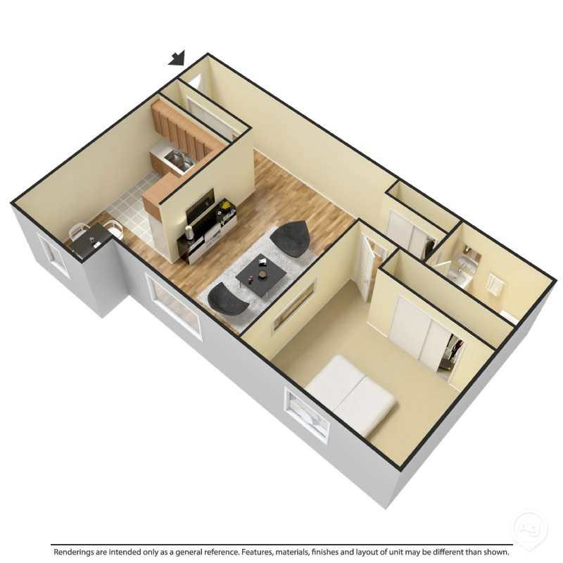 Bedroom - Plan 1